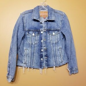 Lucky | Tomboy Trucker Distressed Denim Jacket--M